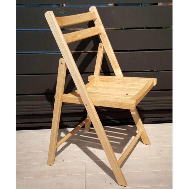 Amante Rubber Wood Folding Chair (Natural)
