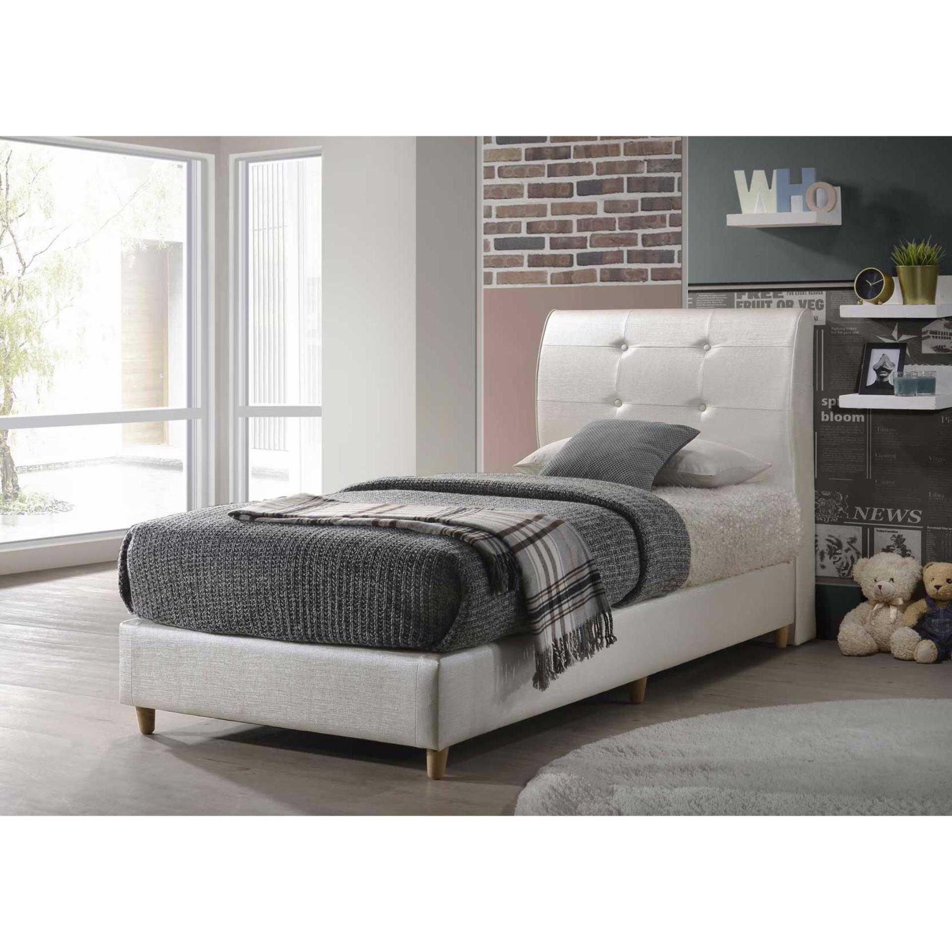 Amour Brand Classic Pu Leather Bed Frame Single Size Super Single