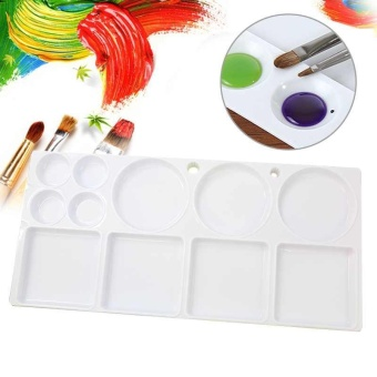 Art Paint PP Plastic Drawing Tray Color Palette For Oil WatercolorPainting tool - intl