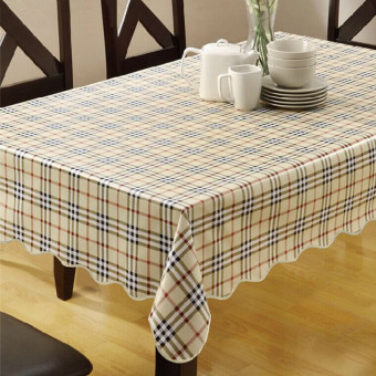 Art Round Pastoral PVC Waterproof Heat Resistant Table Cloth Tablecloth