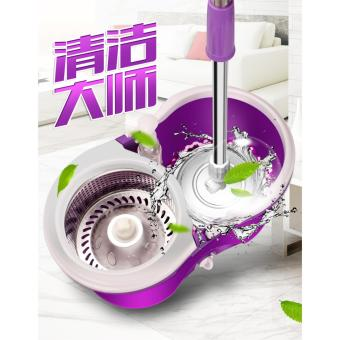 ?Automatic Spin Dry Mop ?SPIN MOPS ?360 MAGIC DUAL SPIN MOP ?STAINLESS STEEL BASKET ?