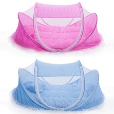 Baby Mosquito Bed Crib Mattress Pillow Tent Portable and Foldable - intl