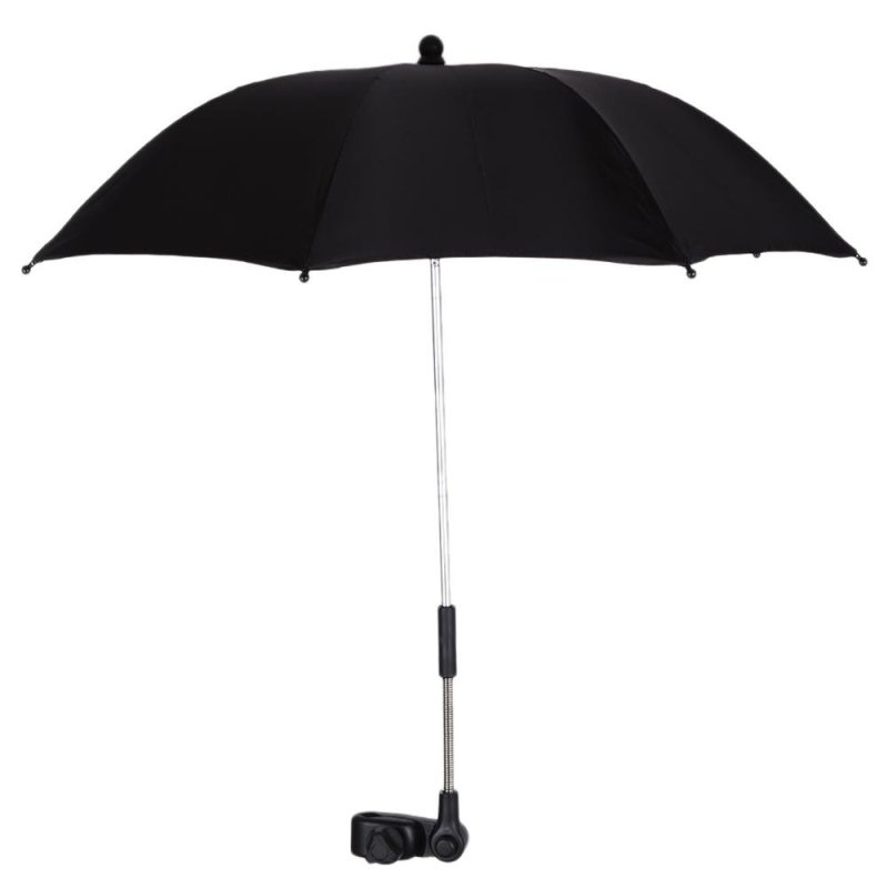 Baby Stroller Pram Pushchair Adjustable Folding Umbrella With Holder(Black) - intl