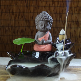 Back clay incense tower back incense censer incense holder