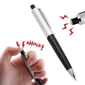 Ball Point Pen Shocking Electric Shock Toy Gift Joke Prank TrickInteresting - intl