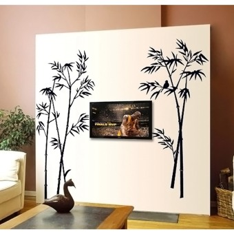 Bamboo Decor Wall Stickers Black Lazada Singapore - Wall decals singapore