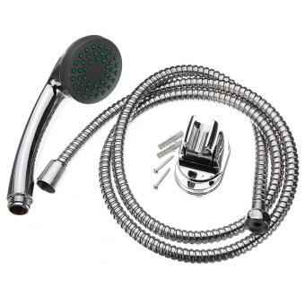 Bathroom Hand-held Spray Shower Nozzle Mixer Set Head + Hose + Bracket Kits New - 4