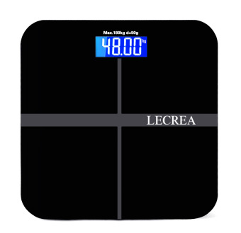 Harga Bathroom Scales Intelligent electronic scales weighing scales (Black) - Intl