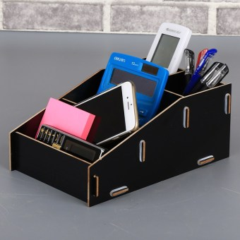 Beautiful home desktop wooden multi-functional combination stationery storage box Pen Holder
