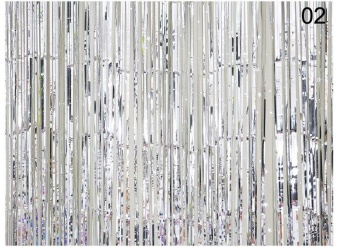 Beautymaker Silver Metallic Backdrop Curtain Window Wedding PartyDecor - intl