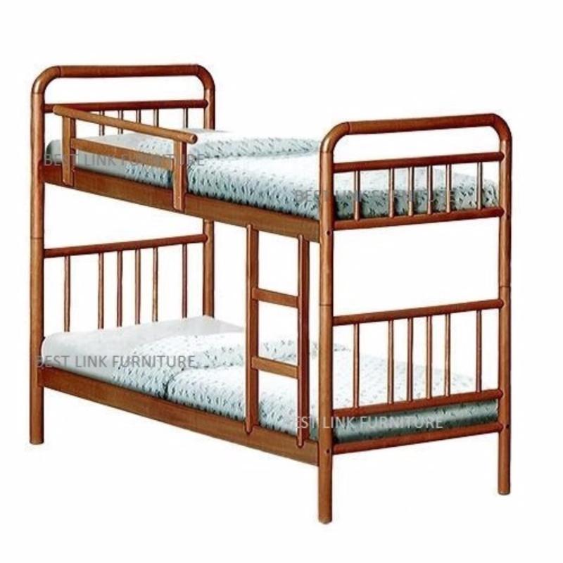 BEST LINK FURNITURE BLF 45 Double Decker Bed (Cherry)