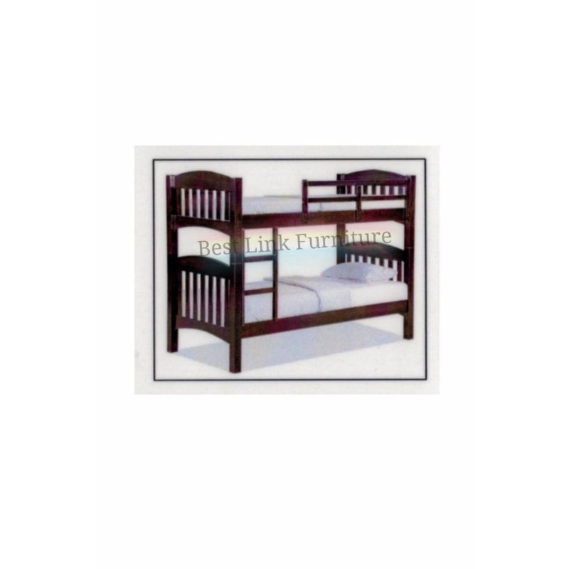 BEST LINK FURNITURE BLF 50 Double Decker Bed (Single/Walnut)