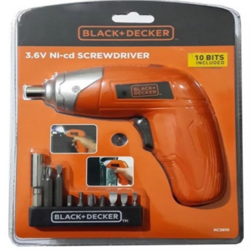 Black and Decker 3.6V Ni-cd Screw Driver.600mah.kc3610.Psb Safety Mark Approved