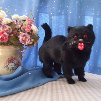 Black Cat simulation cat Halloween mall photography furnishings