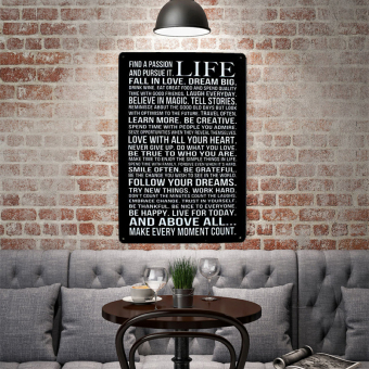 BolehDeals 20x30cm Vintage Metal Tin Sign Plaque Wall Art Poster Cafe Bar Pub 01