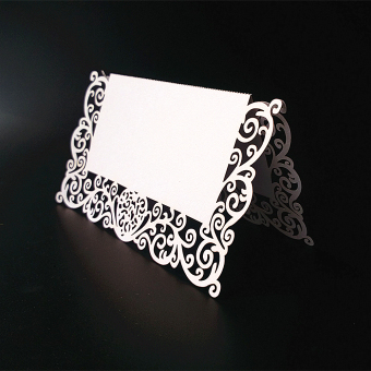 BolehDeals 25pcs White Table Name Number Place Card Wedding Party Invitation Favor
