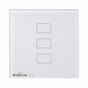 Broadlink TC2 Wifi 3 Gangs Touch Switch Panel Remote Control Light Controller - UK Standard WHITE - intl