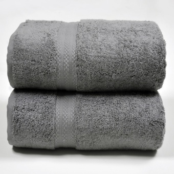 Canopy Luxe Egyptian Cotton Bath Towel Charcoal (2PCS)