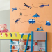 Car Cartoon Airplane Wall Stickers Nursery Childrens Room Bedside  Decorative Stickers Bedroom Living Room Backdrop Stickers Part 82