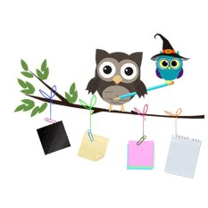 Cartoon Owl Kindergarten Wall Stickers 50 * 40cm - intl
