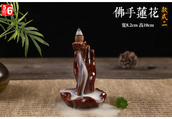 Ceramic incense coil back incense censer clay Incense Burner