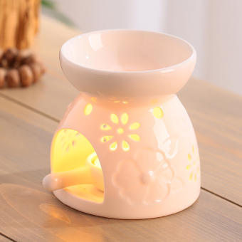 Ceramic porous fragrant aromatherapy lamp candle