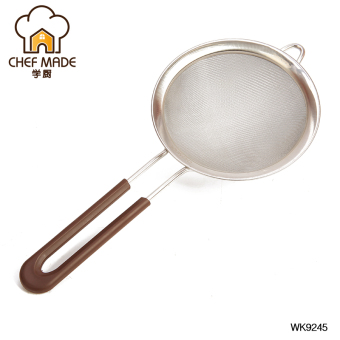 Chefmade silicone baking tools stainless steel hand flour sieve