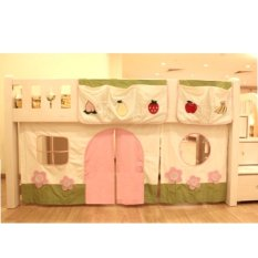 Children Play Curtain w/ Pockets for Bunk / Loft Bed - Garden