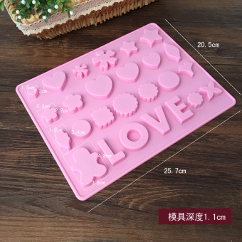 Chocolate lovely-shaped gel mold pudding Mold