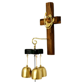 Christian teaching decorative copper handmade wind chimes homedecorations