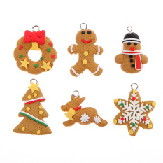Christmas Ornament Polymer Clay Pendants Tree Hanging Gift Decoration Singapore