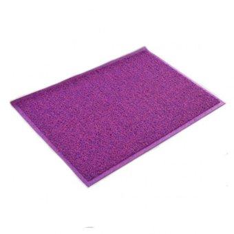 colour coil pvc floor mat purplered