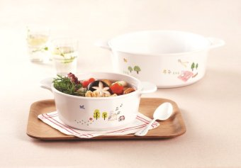 Corningware 4pc Casserole Set with Glass Covers