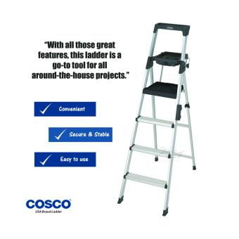 Harga Cosco 4-Steps(Black) Aluminium Ladder