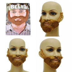 Cosplay Costume Party Male Man Halloween Beard Facial Hair Disguise Game Brown Mustache - intl