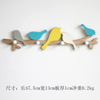 Country American wooden bird adhesive hook