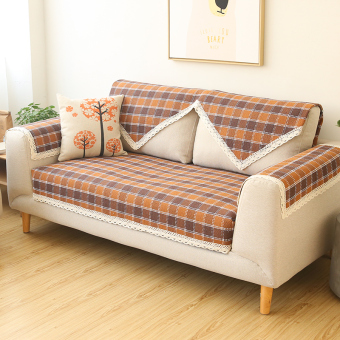 Harga Country cotton thread Four Seasons woven sofa cover sofa pad