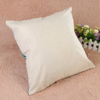 Creative Striped Pattern Cotton Pillow Cover(Blue) (EXPORT) - 5