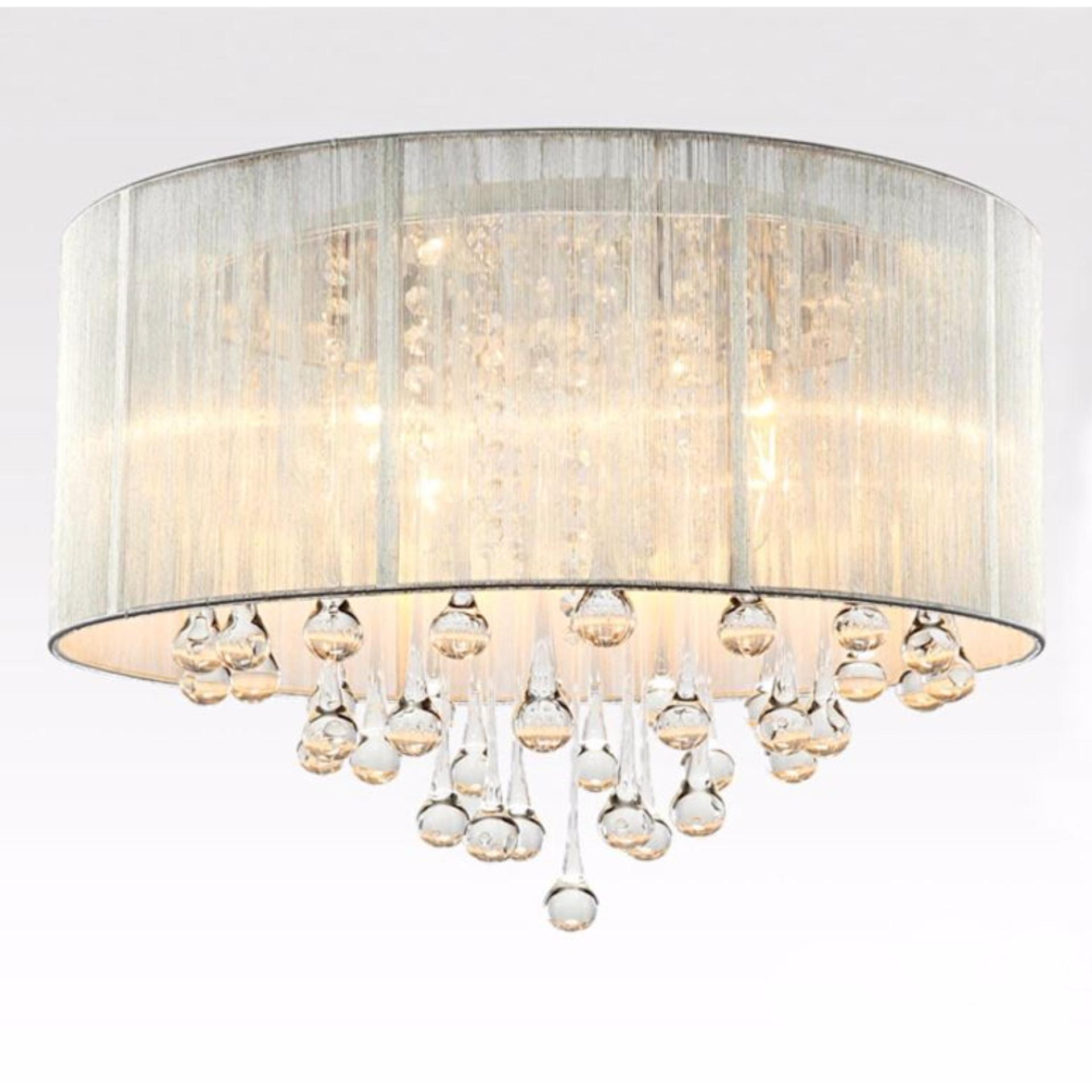 Crystal Modern Rain Drop LED Ceiling Light For Living Room Bedroom Dining  Room Singapore