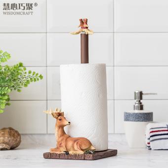 cute vertical bathroom free nail roll holder towel rack
