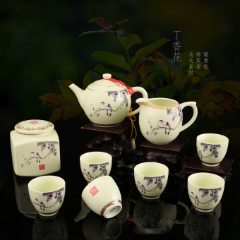 Harga DH tea suit home Kung Fu tea Ceramic Package sets wedding teapotcup wedding Jingdezhen tea
