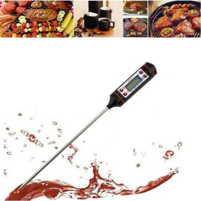 Digital Cooking Food Meat BBQ Selectable Sensor Thermometer Temperature - intl