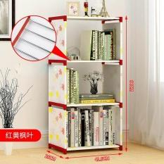 DIY Combination Shelf Nonwovens Floor Living Room Kitchen Bathroom Storage Rack Simple Bookcase Bookshelf Creative Multi Layer Shelf - intl