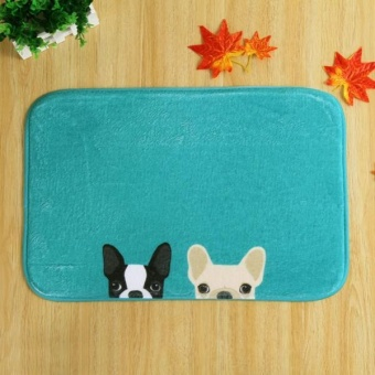 Dog Door Kitchen Carpets Memory Foam Bathroom Absorbent Non-slipMat - intl