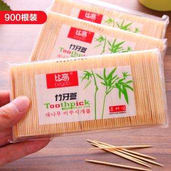 Double pointed single hotel fine toothpick bamboo toothpick