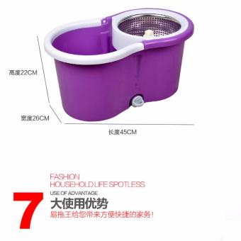 Double Sticks/Head 360? Rotating Spin Mop Bucket Sets + Free MOP Holder ( ??360 ?????????) - 2