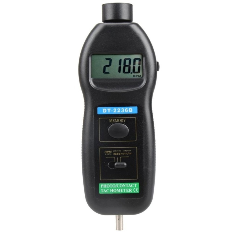 DT2236B 2 in 1 Digital Photo Contact Tachometer 99.999 RPM - intl