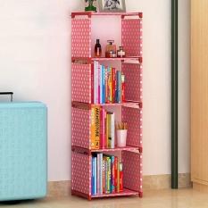 Easy Shelf Multi-function Non-woven Dustproof Bookcase Childrens Bookshelves Kids Room Storage Rack Kitchen Bathroom Shelf - intl