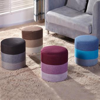 FARMIE: Durable Wooden Body Rainbow Linen Cloth Sitting Stool - 3