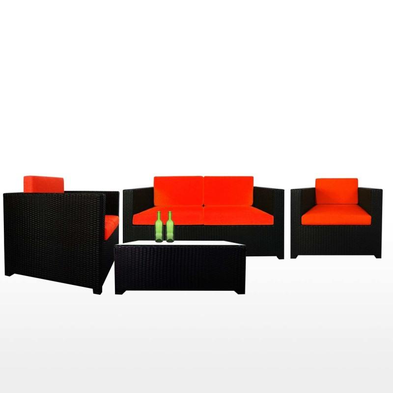 Fiesta Sofa Set II Orange Cushions